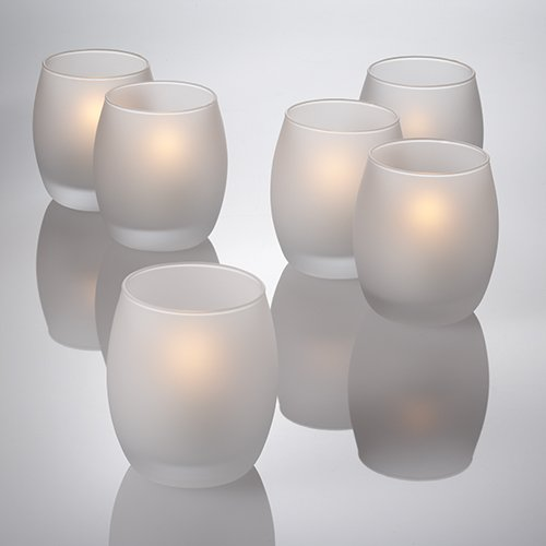 Eastland Grande Hurricane Candle Holder Frosted Set of 12 ()