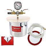 YaeTek Small Mini 3 Quart Vacuum Chamber Stainless Steel Degassing Urethanes Silicone Epoxies