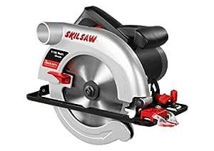 Skil 5255AA - Sierra circular para cortes de una profundidad de 55 mm (1150 W, conexión para aspirador integrada, guía paralela, hoja de diámetro 170 mm)