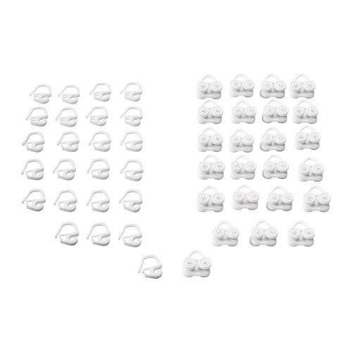Amazonde Ikea Vidga Gardinen Gleiter Haken In Weiß 24 Stück