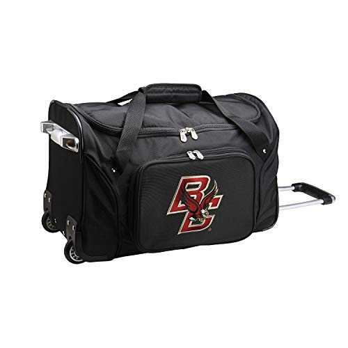 NCAA Boston College Eagles Wheeled Duffle Bag, 22 x 12 x 5.5, ()