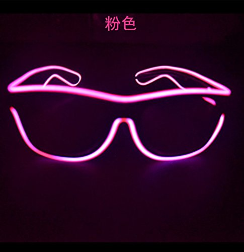 Agile Shop Fashionableglow Eye Glasses With Voice Control Light Up El Wire Led Flashing Glasses For Halloween Christmas Birthday Party Favor  Pink