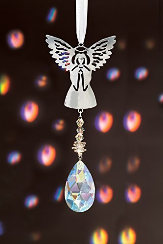 The Paragon Crystal Suncatcher - Angel Rainbow Maker with Faceted Teardrop Pendant