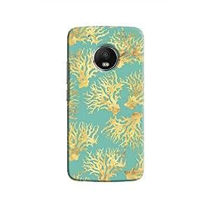 Cover It Up - Blue Gold Nature Print Moto G5 Plus Hard Case