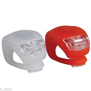 2x LED Bicycle Bike Cycling Silicone Head Front Rear Wheel Safety Light Lamp Hot