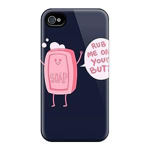 New Soap Butt Tpu Case Cover, Anti-scratch RUGCAMF4709yCDxq Phone Case For Iphone 4/4s