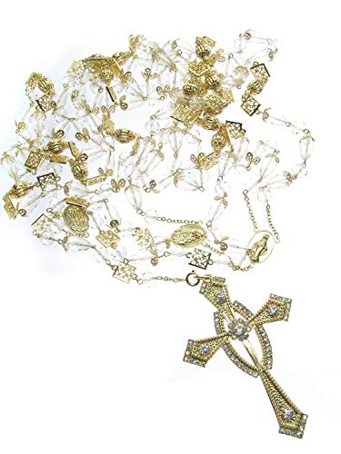 DivaDesigns Hispanic Traditional Wedding Crystal and Cross Lasso 107 - Gold Tone/AB ()