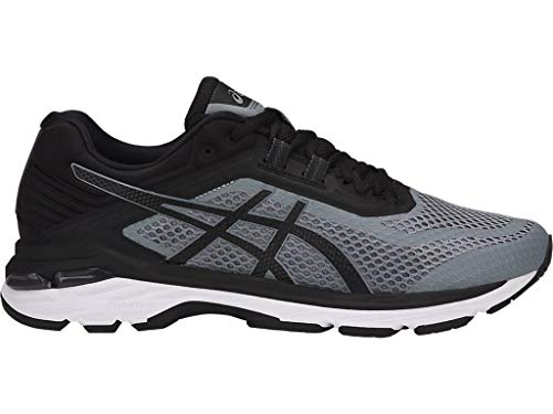 - ASICS Men's GT-2000 6 Running Shoes, 10.5M, Stone Grey/Black/White