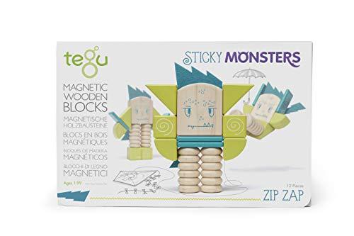 Tegu Zip Zap Magnetic Wooden Block Set