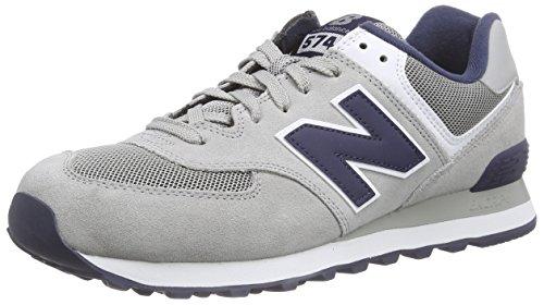 New Balance NBML574VBA Sneaker, Uomo Grey/Navy