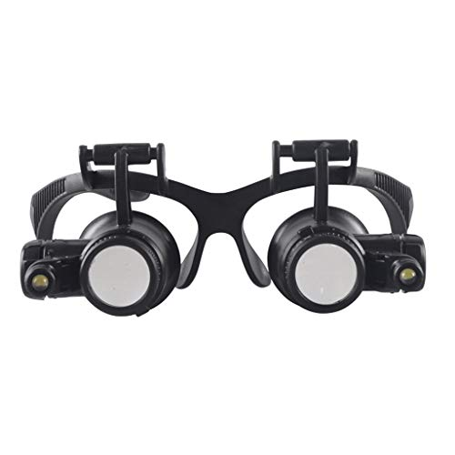 Office Magnifiers HD Portable LED Light High Magnification Head-Mounted Optical Glass Lens Electronic Maintenance Magnifying Glass Magnifying Glasses