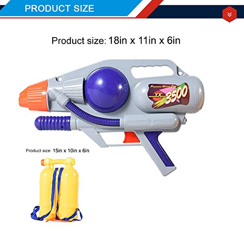 Liberty Imports Super Water Gun with Big Backpack Tank | Pump Soaker Blaster 3500 High Capacity Long Range Summer Outdoor Toys for Kids Adults (5205ml /176 Oz) by Liberty Imports (Image #6)