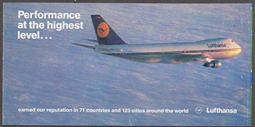 Performance at the highest level Lufthansa Boeing 747 airline folder 1985