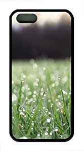 iPhone 5S Case Cover - Grass Water Drop Designer iPhone 5S/5 Case and Cover - TPU - Black