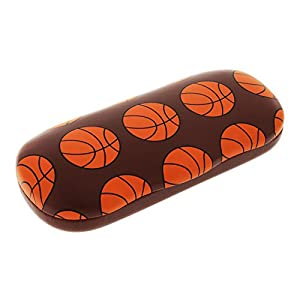 Sports Themed Hard Shell Eyeglass Case For Boys And Girls, Basketball