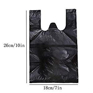 Personal Disposal Bags, 200 PCS Women Sanitary Disposal Bags Black Waste Bags for Sanitary Napkin