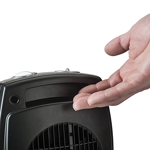 Lasko CD09250 Ceramic Heater With Adjustable Thermostat Tabletop Or  Under Desk, Black