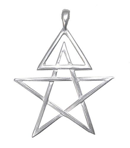 The Silver Dragon Sterling Silver Third Degree Pentagram Pendant