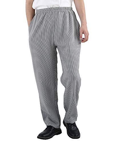 Men's and Women's Elastic Stripe Chef Pants Floral Restaurant Work Pants and Uniforms Baggy Chef Pants XL