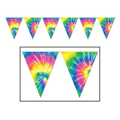 Tie-Dyed Pennant Banner Party Accessory (3-Pack)