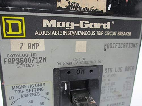 Square D FAP3600712M 7 Amp 3 Pole 600 V Circuit Breaker