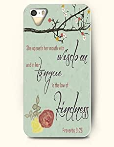 iPhone 5 / 5s Case She Openeth Her Mouth With Wisdom And In Her Tongue Is The Law Of Kindness Proverbs 31:26 - Bible Verses - Hard Back Plastic Case - OOFIT Authentic