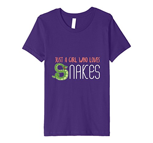 Kids Just A Girl Who Loves Snakes T-Shirt Snake Lover Tee 8 Purple - Kid Snake Girl