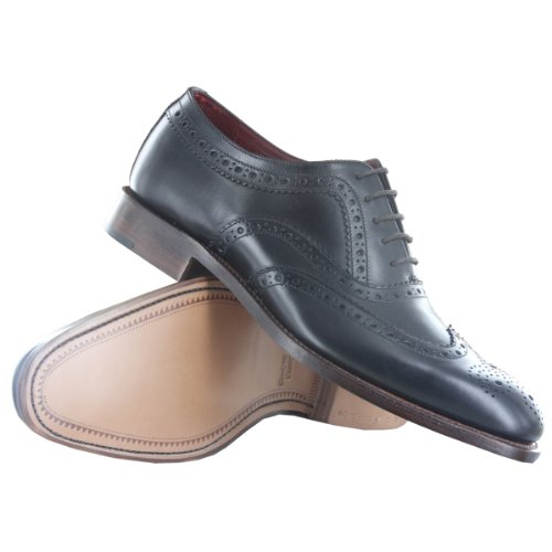 Loake Eu43 Shoe Us9 5 Fearnley Brogue Mens Uk9 Black wPqrZT6w