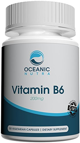 Vitamin B6 for Energy Metabolism Booster Strong Immune System Weight Loss Digestive Health Laser Focus Cognition and Memory Muscular Health Eye and Vision Support 100 Veggie Caps