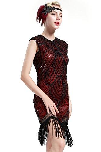 BABEYOND Damen Kleid Retro 1920s Stil Flapper Kleider voller ...
