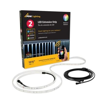 Peak Products 19 ft. 6 in. LED Multicolor Outdoor Starter Kit-50408 by Peak Products