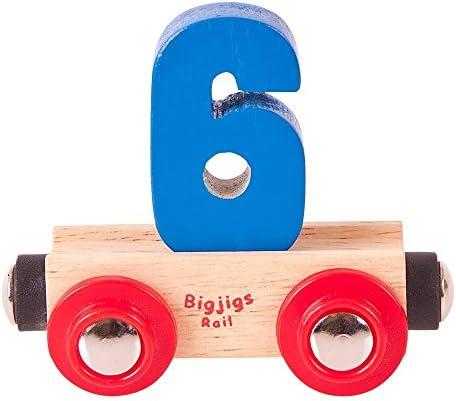 Bigjigs Rail Rail Name Number 6 (Colors Vary) [並行輸入品]