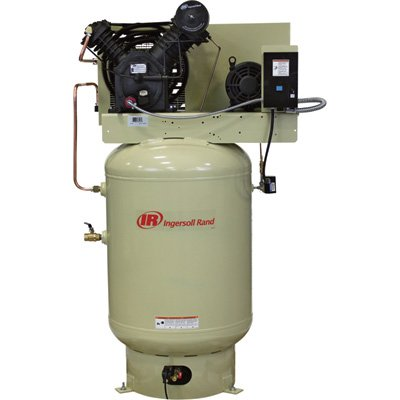 Image Unavailable. Image not available for. Color: - Ingersoll Rand Electric Stationary Air Compressor (Fully Packaged) - 10 HP ...