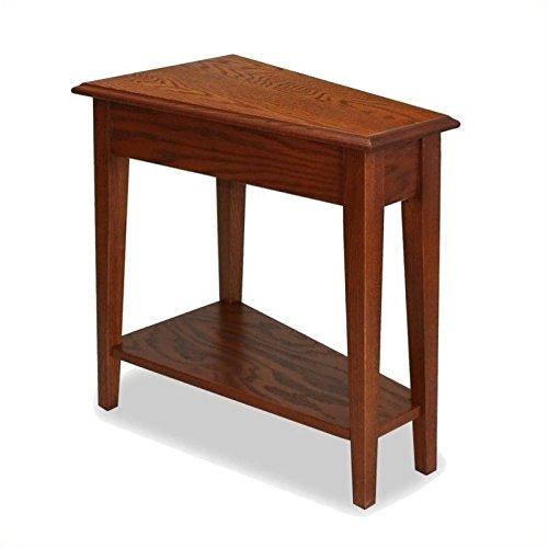 Bowery Hill Favorite Finds Recliner Wedge Table in Medium Oak For Sale