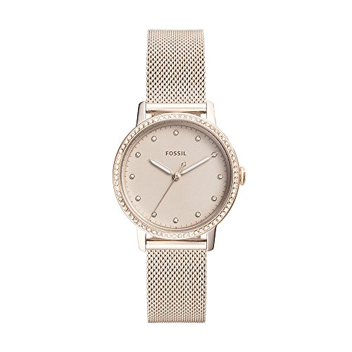 (Fossil Women's 'Neely' Quartz Stainless Steel Casual Watch, Color:Pink (Model: ES4364))