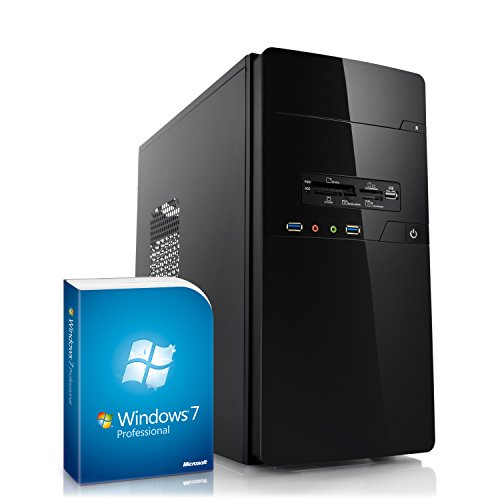 Home & Office PC - IDV A4-5300 inkl. Windows 7 Professional - AMD Dual-Core A4-5300 2x 3400 MHz, 4GB RAM, 500GB HDD, 300MBit/s WLAN, 10in1 CardReader