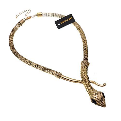 - Fashion Snake Curved Bar Design Adjustable Neck Collar Choker Necklace (Gold)