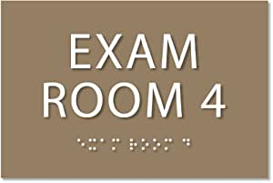 """Amazonm Exam Room 4 Sign  Ada Compliant Sign 6""""x4. Dinner Room. Round Decorative Rugs. Decorative Finials. Wholesale Primitive Home Decor. Brown Living Room Set. Mirror For Living Room Wall. Paint Colors For Rooms. Super Bowl Decorating Ideas"""