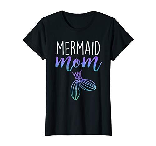 Womens Mermaid Mom Mermaid Birthday Party Shirt