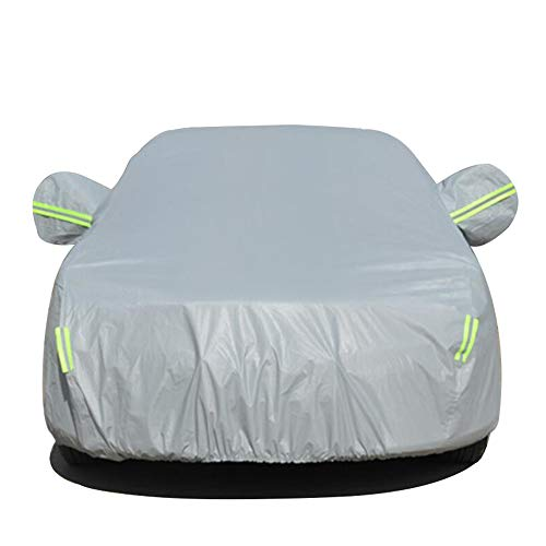 HRF0FCLH Full Coverage of The car/Plush Lining car Cover Compatible with Mercedes Benz Series: C Series, E Series, GLA Series, GLC Series, ML Series, S Series,Gray,ML500