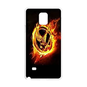 Durable Hard cover Customized TPU case The Hunger Games Samsung Galaxy Note 4 Cell Phone Case White