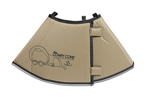 The Comfy Cone Pet Recovery Collar by All Four Paws, Medium, Tan,Medium 20 cm ()
