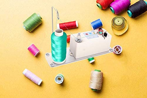 XBA Bobbin Winder, Portable Automatic Bobbin Winder Fits for All Bobbins, Electrical Bobbin Winder with Spool Thread Stand for Domestic and Industrial Sewing Machines