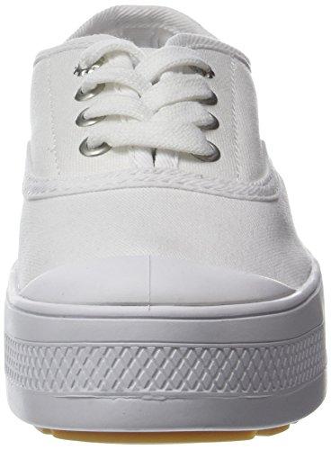 Blanc white Palladium Low Femme Baskets Canvas Sub 420 WZaFq6