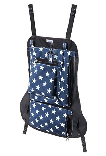 Attachable Diaper Bag: Snaps on Baby Carriers, and Strollers for Hands Free Parenting for Active Families (Stars)