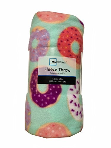Donut Mint Fleece Throw Blanket - 50in by 60in