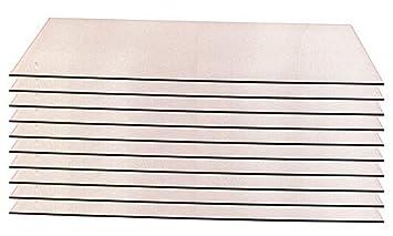 Einlegeb/öden 10 Glaseinlegeb/öden f/ür Vitrine Art.-Nr MCW 148290 Modellauto Bausatz