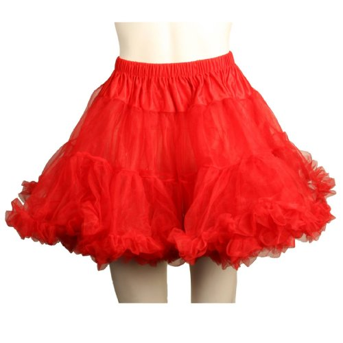Voodoo Woman Halloween Costume (Leg Avenue Women's Layered Tulle Petticoat, Red,)