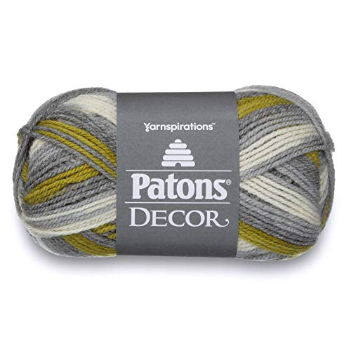Patons  Decor Yarn - (4) Medium Worsted Gauge  - 3.5oz -  Frond -   For Crochet, Knitting & Crafting ()