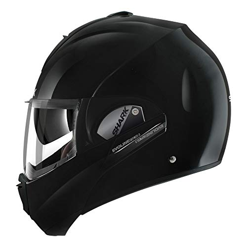 (Shark Unisex-Adult Full Face Evoline 3 Uni Helmet (Black, Large),HE9350DBLKL)
